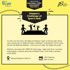 Challenge Steps Kallang Wave Mall The National Steps Challenge Steppers