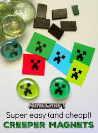 super easy u0026 cheap minecraft magnets great party favor or