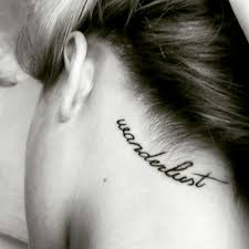 wanderlust tattoo behind the ear tattoo hairline tattoo cute