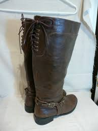womens boots in size 11 wide steunk plus size s wide calf brown corset laced