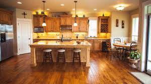 light wood kitchen cabinets with wood floors light wood flooring with cabinets