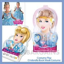 disney princess cinderella book week character costume wig