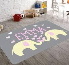 Pink Elephant Nursery Decor Elephant Rug Nursery Rug Elephant Nursery Decor