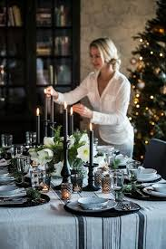 Black And White Christmas Decorations For Tables by 442 Best Table Settings For Christmas Images On Pinterest