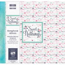 Scrapbook Albums 12x12 First Edition 12x12 Sweet Nothings Scrapbook Album Fealb053 By