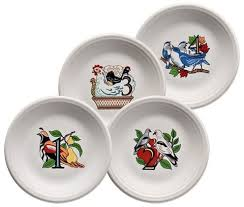twelve days of salad dessert plates series 1