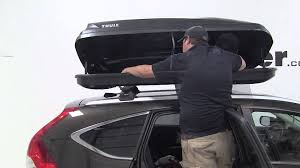 honda crv cargo box review of the thule pulse xl rooftop cargo box on a 2013 honda cr