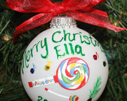 lovely painted personalized ornaments by flutterbyconnections