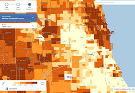 Map Chicago Metro by Income Census Zoomable Map Business Insider