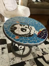 unique side table salvador dali round unique mosaic side table