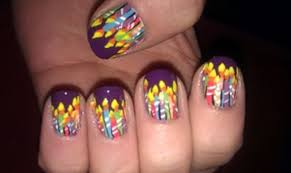 happy birthday themed nail art designs u0026 ideas