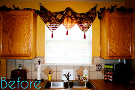 How To Make A No Sew Window Valance I Should Be Mopping The Floor Quick U0026 Easy No Sew Cafe Curtains
