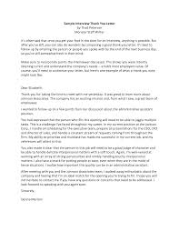 best ideas of sample thank you letter after interview for