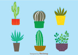 free watercolor cactus vector download free vector art stock