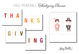 freebie printable thanksgiving banner itsy belleitsy