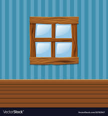 home interior vector wooden window home interior royalty free vector