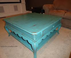 Distressed Coffee Tables by Retro Farmhouse Style Blue Painted Coffee Tables