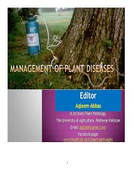 Plant Disease Control Methods - management of plant diseases pdf download available