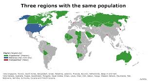 World Regions Map by Expansica America And Compactica Three World Regions With The