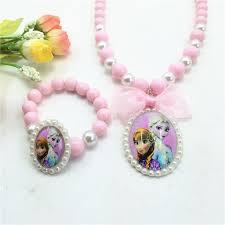 childrens jewlery 2016 hot sale frozen jewelry set pricess elsa pendant