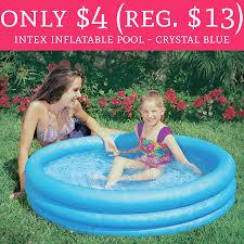 Intex Inflatable Pool Only 4 Regular 13 Intex Inflatable Pool Crystal Blue Free