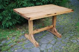 Small Breakfast Table by Small And Narrow Diy Pine Trestle Dining Table For Saving Small