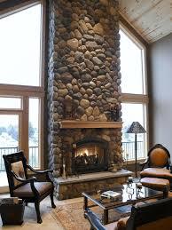 yakima river rock fireplace fireplaces u0026 chimneys pinterest