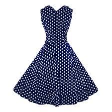 women u0027s 1950 u0027s vintage blue polka dot cut out v neck casual party