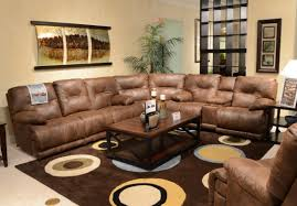 Overstuffed Sofa And Loveseat by Catnapper Voyager Lay Flat 3 Pc Sectional W Triple Recline Sofa