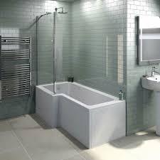 l shaped left handed shower bath 1500mm with 6mm shower bath