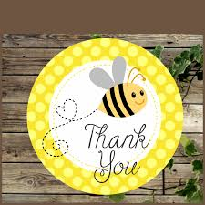 bee baby shower favor tags printable yellow bumble bee baby