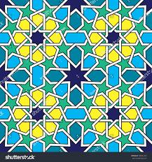 moroccan tiles pattern moorish seamless vector stock vector