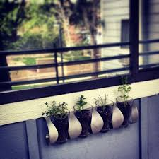 ikea repurposed wine rack planter lc garden planters pinterest