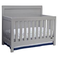 Baby Crib Mattress Support Solid Wood Frame Br Back Panel With Thick Molding Br 3