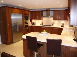 remarkable small u shaped kitchen with white color kitchen island