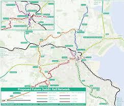 Dart Rail Map Future Rail Map Of Dublin