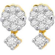 pressure earrings avsar real gold and diamond pressure set earrings ave020 gold