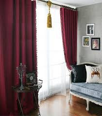 Burgundy Curtains For Living Room Curtains Maroon Curtains For Living Room Ideas Love The Color