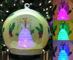 lighted ornament led painted glass