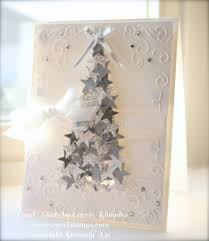 silver star christmas tree card carrie stamps cards