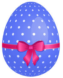 blue easter eggs blue dotted easter egg with pink bow png clipart gallery