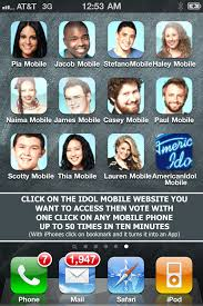 Vote Idol American Idol Fans Use One Click Voting On Mobile Phones For
