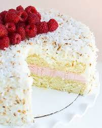raspberry coconut cake with marshmallow frosting u2022 ashley c