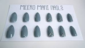 europa moonchild muted blue false nail set meero mani nails