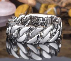 titanium steel bracelet images 24mm 26mm heavy punk 316l stainless steel bracelet curb cuban link jpg