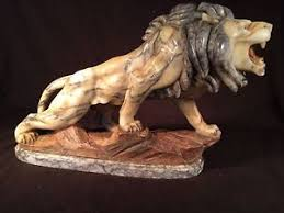 marble lion antique marble lion statue with glass circa 1860 1800 ebay
