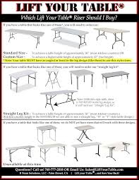 counter height folding table legs lift your table folding table risers transforms standard folding