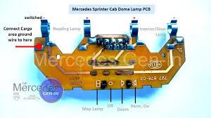 cargo area lighting control modification from sprinter cab dome