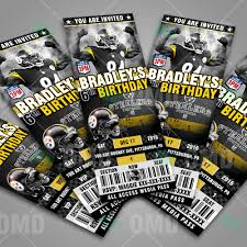 sports invites pittsburgh steelers ticket style sports party