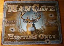 Hunting Home Decor Man Cave Metal Home Décor Hanging Signs Ebay